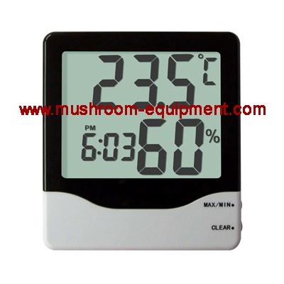 mushroom spawn digital hygrometer thermometer