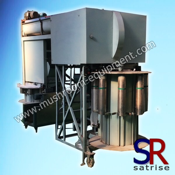 High pressure press type bag filling machine
