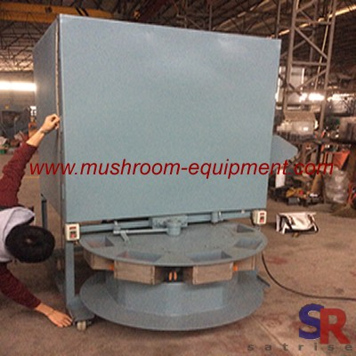 Growing mushrooms bag filling machine