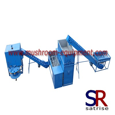 oyster mushroom cultivation - mushroom growing bag filling line