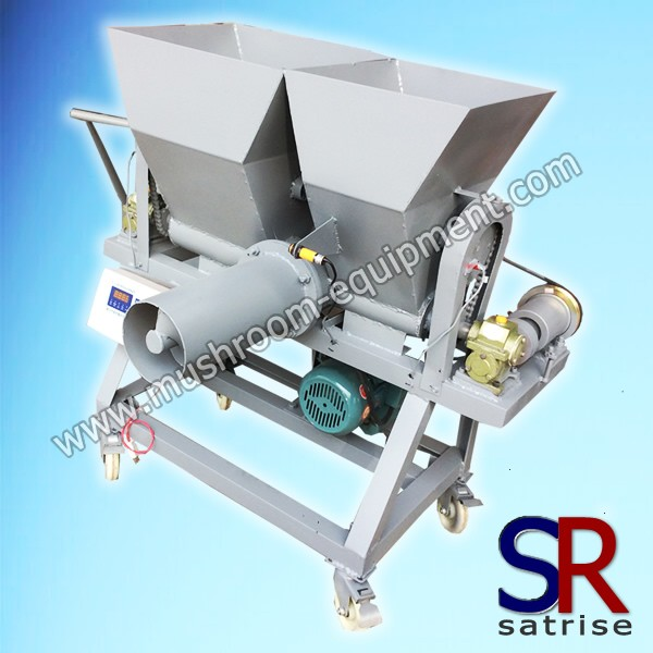 Mushroom bagging machine for large size bag