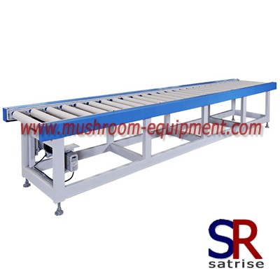 conveyor roller used in the mushroom bagging line