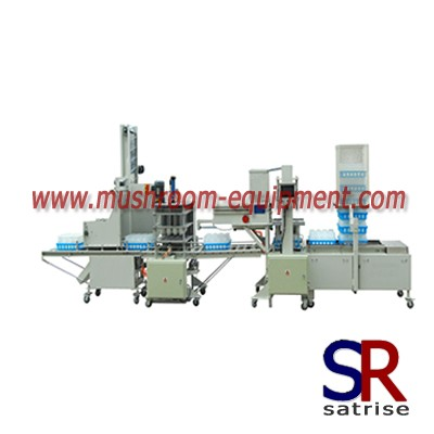 Automatic mushroom bottle filling line