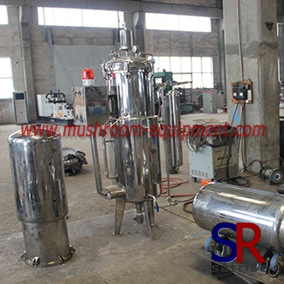 liquid mushroom spawn stainless steel fermenter