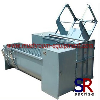 vertical type mushroom substrate mixer