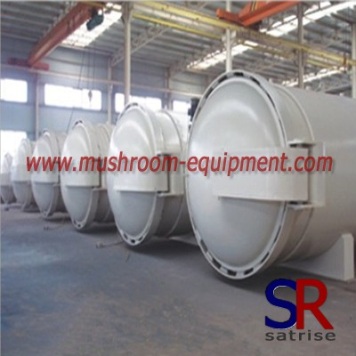 Double door mushroom autoclave steam sterilizer