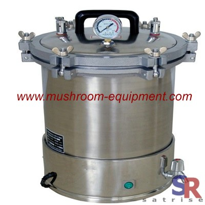 High pressure sterilizer for mushroom cultivating