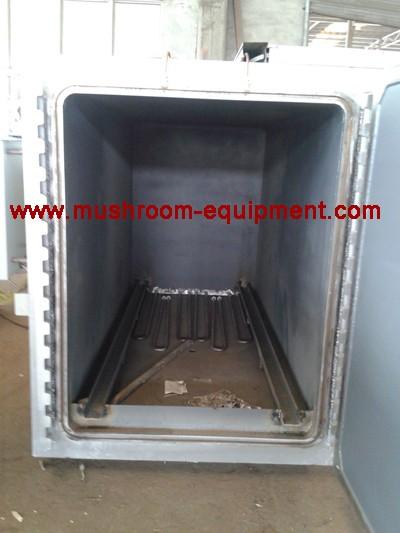 rectangular structure mushroom steam sterilization