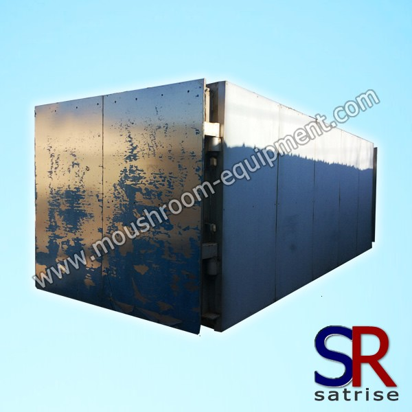 rectangular structure mushroom steam sterilization