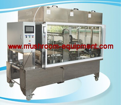 Mushroom liquid inoculating machine for bag spawn